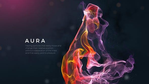 AE模板-Plexus线条大气梦幻背景文字宣传片头 Aura Inspiring Titles