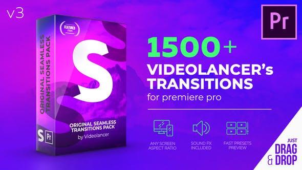 PR模板-1500组摄像机推拉聚焦冲击信号损坏扭曲淡入淡出Premiere无缝视频转场V3