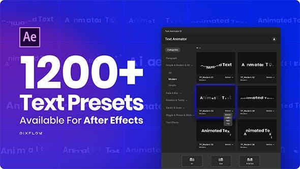 AE脚本-1200组一键添加缓入缓出MG文字动画预设 破解版