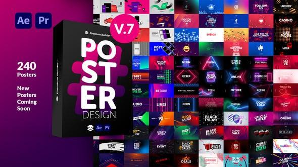 AE/PR脚本模板-时尚文字排版广告宣传海报包装动画预设V7