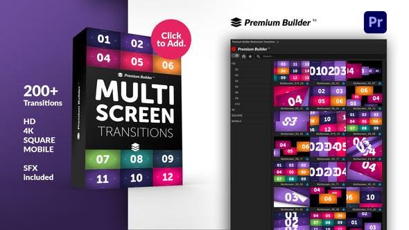 Premiere/PR脚本-200组图片视频切割翻页常用分屏转场预设