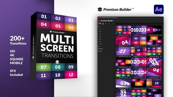 AE+Premiere/PR脚本-200组图片视频切割翻页常用分屏转场预设