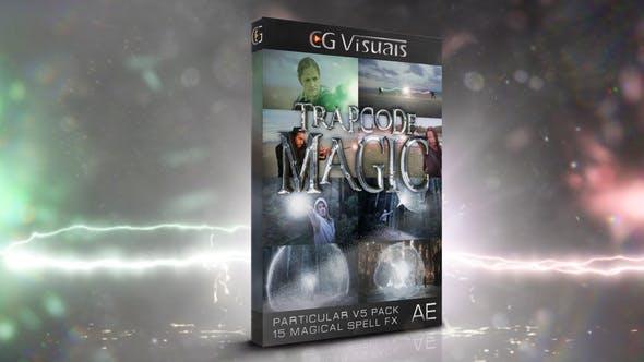 AE模板-哈利波特魔法能量烟雾闪电保护罩粒子冲击波特效动画 Particular